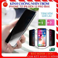[GÍA SỐC] Kính Chống Nhìn Trộm Iphone, Kính cường lực Iphone tất cả các dòng iphone 6/6s, 6Plus/6s Plus, 7/8, 7Plus/8Plus, X/Xs, Xs Max, 11 Pro / 11 Pro Max, Ip 12, 12 Mini, 12 Pro Max kinh chong nhin trom Ip tặng kèm giấy lau, ahacase