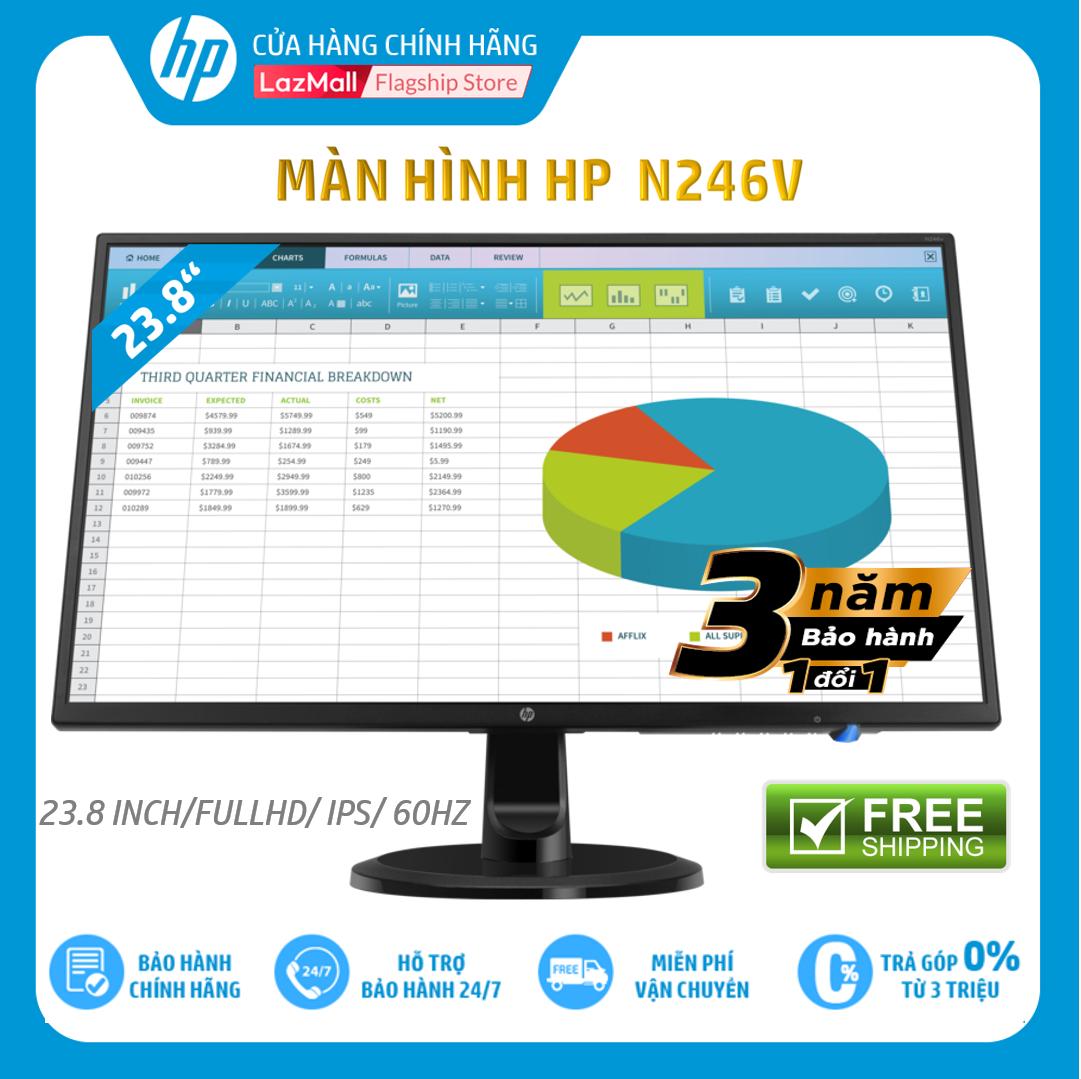 [Trả góp 0%] Màn hình máy tính HP N246v 23.8-inch Monitor,3Y WTY-1RM28AA – Hàng Chính Hãng