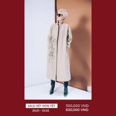 Áo măng tô thêu trừu tượng CChat Clothes