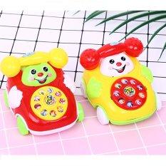 Điện thoại ô tô đồ chơi, xe oto đồ chơi cho bé kéo dây cót