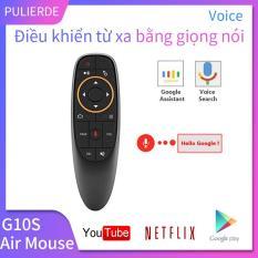 G10S Điều khiển từ xa bằng giọng nói Chuột không dây 2.4Ghz với con quay hồi chuyển Mic Hỗ trợ cho Android TV Box