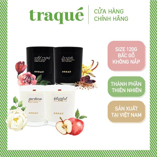 [8 mùi – size 120g] Nến thơm tinh dầu sang trọng xuất khẩu Aurae, dùng trang trí nhà cửa và quà tặng – mùa lễ hội