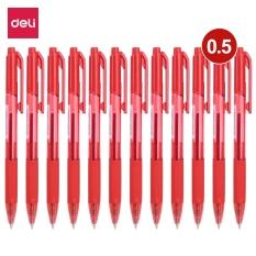 DELI Bút bi dầu, bút viết, bút bấm đầu 0.5 mm/0.7mm 12 cây/hộp Xanh,Đen,Đỏ EQ02230/EQ02330 EQ02220/EQ02320 EQ02240/EQ02340
