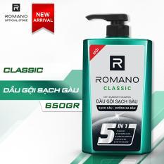 Dầu gội sạch gàu Romano Classic loại bỏ & ngăn gàu trở lại 650gr