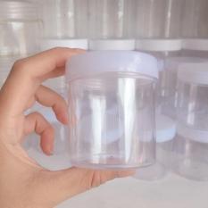 Hộp Đựng Slime Kiểu Mỹ 120ML – Nắp Trắng Nhựa Cứng Trong Suốt