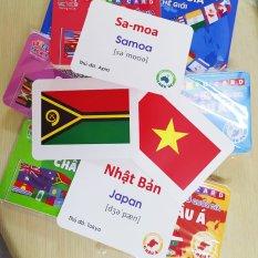 Bộ 175 Thẻ Flash Cards Quốc Kỳ/ Cờ Các Quốc Gia Trên Thế Giới