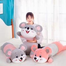 Gấu Bông, Gối Ôm Chuột Bông Mặc Áo Đáng Yêu Chất Liệu Vải Nhung Hàn Quốc