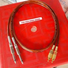 Cặp Dây 6ly ra av dài 1m , dây usa jack 3 sọc vàng