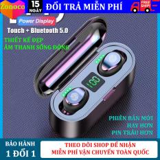Tai nghe bluetooth 5.0 Amoi F9 kiêm sạc dự phòng 2000mAh, Điều khiển cảm ứng vân tay, màn LED báo pin, chống nước, chống ồn, tai nghe không dây, tai nghe bluetooth dùng cho các dòng điện thoại, hay hơn tai nghe i11, i12