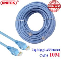 Cáp mạng LAN Internet bấm sẵn Unitek Y-C813ABL dài 10m chuẩn CAT 6