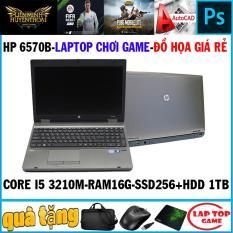 [Nhập ELMAR31 giảm 10% tối đa 200k đơn từ 99k]Laptop chơi game + đồ họa HP 6570B Core i5 3210M Ram 16G SSD 256g+HDD 1tb Màn 15.6 Phím Số Vỏ Nhôm