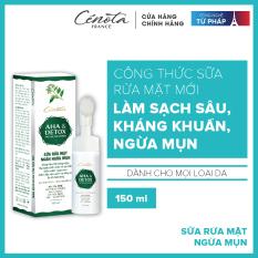 Sữa rửa mặt AHA Detox 150ml, sữa rửa mặt giúp tạo bọt, kiềm dầu, ngăn ngừa mụn hiệu quả
