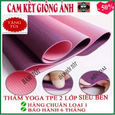 [TRỢ GIÁ] [BAO CHẤT LƯỢNG ]Thảm tập Yoga/ Gym Tpe dày 6mm cao su non 2 lớp ( Tặng túi đựng) Hàng chuẩn loại 1, tham yoga, Tham tap yoga, thảm tập yoga, thảm yoga, thảm yoga tpe 2 lớp, thảm yoga tpe , thảm yoga Hà Nội, thảm yoga cao cấp [ HOA VIỆT ]