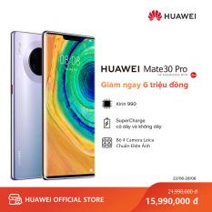 Điện thoại Huawei Mate 30 Pro (8GB/256GB) – Chip Kirin 990 mạnh mẽ – Bộ 4 camera sau Leica – Màn hình Huawei Horizon 6.53 inch cong tràn viền độ phân giải Full HD+ Dung lượng pin 4500 mAh với công nghệ HUAWEI SuperCharge – Hàng phân phối chính hãng