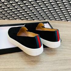[ FREESHIP MAX ] Giày Lười Nữ Da Lộn Hot 2020 | Giày Slipon Nữ Viền Gót | Minh Thư Shoes