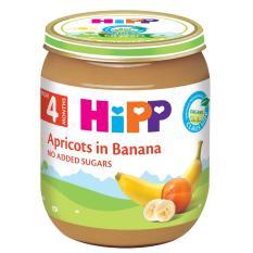 Dinh dưỡng đóng lọ chuối mơ HiPP Organic 125g
