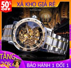 Đồng hồ cơ nam Winner TM02-Đồng hồ nam Cợ lộ máy-Đồng hồ cơ lộ máy-Đồng hồ nam dây thép đúc đặc không gỉ-Mặt chống xước-Đồng hồ chống nước-Đồng hồ nam giá rẻ-Có quà tặng