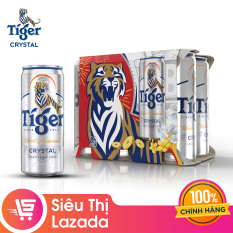 [QT] Lốc 6 lon bia Tiger Crystal 330ml
