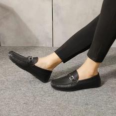 giày da lười nam khóa ngang