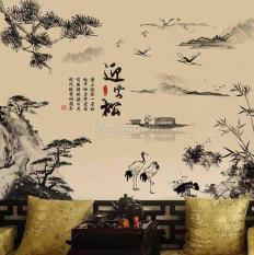 Decal tranh dán tường phong cảnh