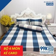 [SIÊU GIẢM GIÁ] Bộ drap 4 món (1 ga +1 vỏ gối ôm+2 vỏ gối nằm} 160*200cm – bộ ga 4 món – bộ ga trải giường cotton
