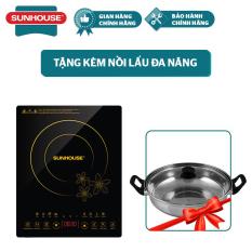 Bếp Từ Cảm Ứng SUNHOUSE SHD6800 Tặng Kèm Nồi Lẩu – Bảo hành chính hãng 12 tháng