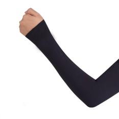 1 Đôi bó ống tay co giãn chống nắng (Đen)