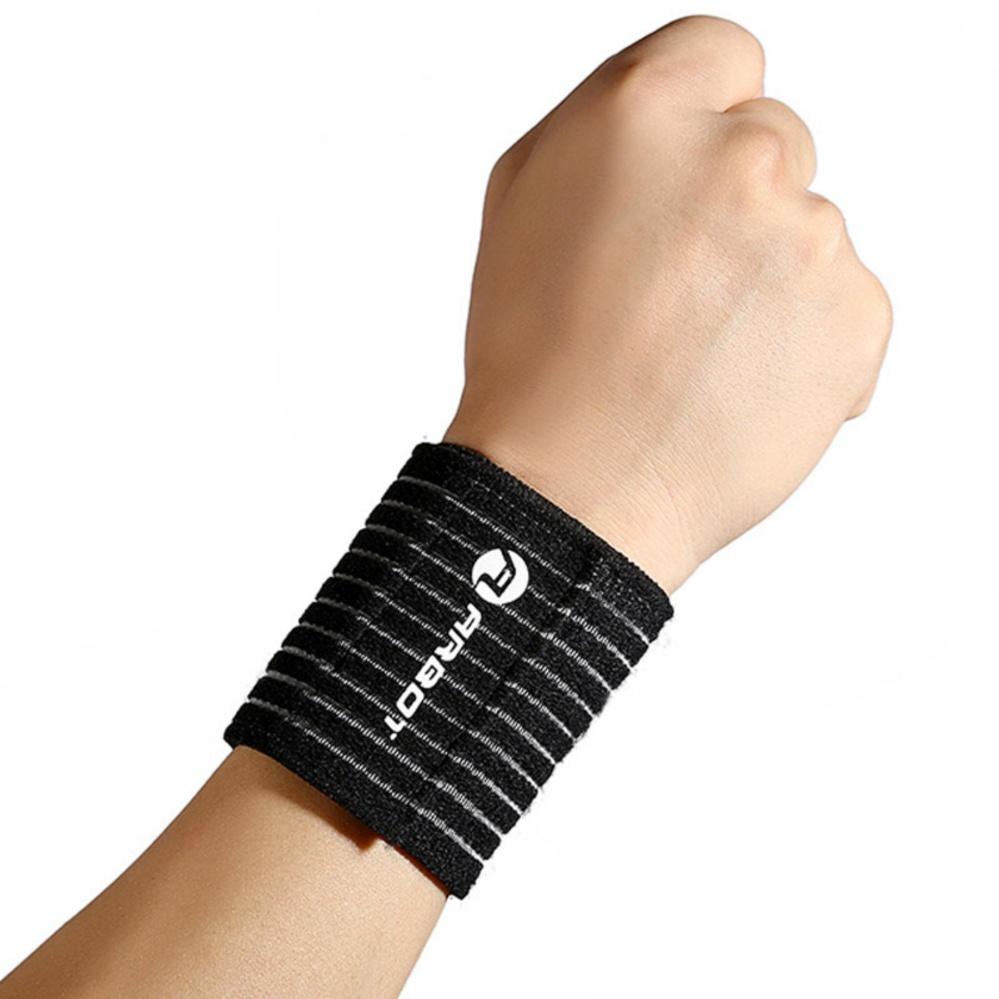 1 Đôi đai quấn cổ tay sọc đen trắng khi chơi thể thao NEW