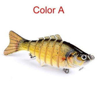 10cm 15g Multi-Jointed Fishing Lure bait plastic bionic bait (A) - intl