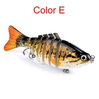 10cm 15g Multi-Jointed Fishing Lure bait plastic bionic bait (E) - intl