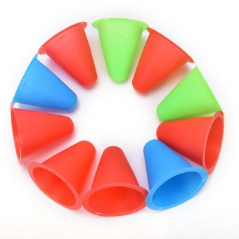 10xcolorful Agility Marker Slalom Cones For Roller Skating Training Traffic Sport - intl