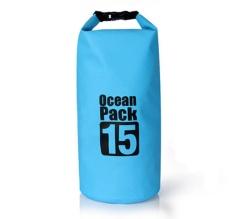 15L Dương Gói Cao Cấp Chống Thấm Nước Bảo Quản Túi Khô Túi để Chèo Thuyền Chèo Thuyền Kayak Đi Bộ Đường Dài Lướt Travelling Bãi Biển 15 Litres (15L) -quốc tế