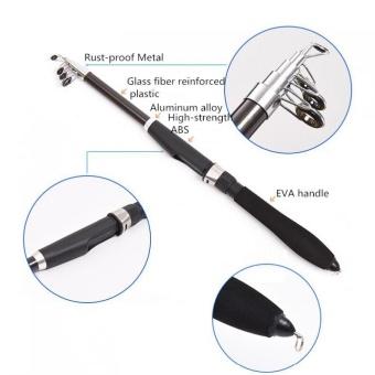 1.6M Ultralight Glass Fibre Telescopic Fishing Rod Sea Rock Ice Rod- intl - 2