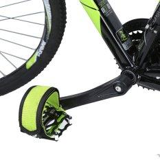 1Pair Fixed Gear Fixie BMX Bike Anti-slip Double Adhesive Straps Pedal Strap Belt Green