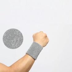 1 cái 8×10 cm Wrister Toweling Dây Đeo Tay Bracer Vòng Đeo Tay Nam Nữ Thể Thao Tập Gym Lắp nâng Trọng Lượng Chạy Bóng Rổ bóng đá Ngoài Trời 1228 (Màu Xám)