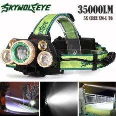 35000 LM 5X XM-L T6 LED Reable Đèn Pha Du Lịch Đầu-intl
