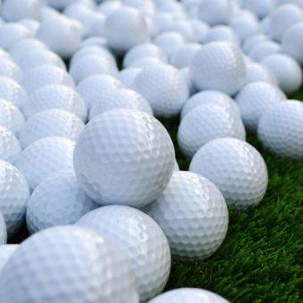 360WISH 5Pcs Profession Training Ball Durable Practice Golf Balls -White - intl