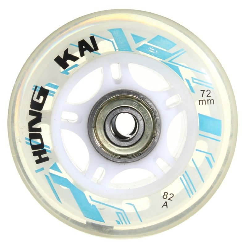 Mua 4 Pcs 72mm 82A Replacement Wheels Rollerblade Skating Inline Skate Shoes White - intl