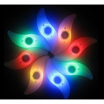 4pcs Bicycle Steel Light Wind Wheel (Red, Blue, Green, Colorful) - intl