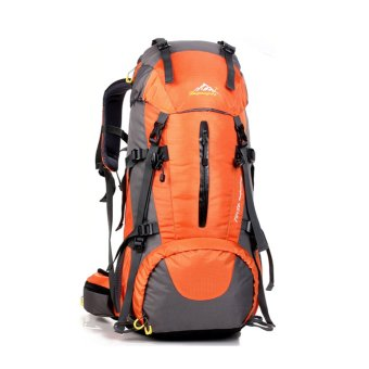 50L Climbing Outdoor Travel Sport Camping Hiking Backpack(Orange) -INTL