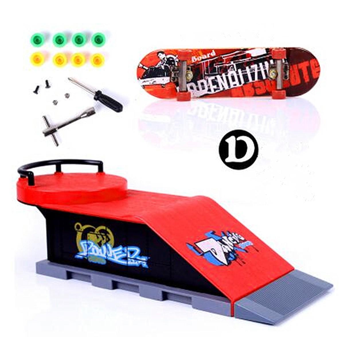 6 Types Skate Park Ramp Parts for Tech Deck Fingerboard Ultimate Parks D - intl