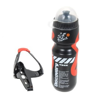 650ml Outdoor MTB Cycling Water Bottle + Holder Rack - intl