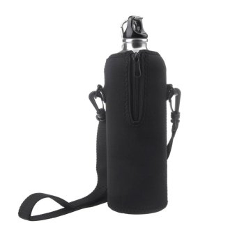 750ml Outdoor Water Bottle Carrier Insulated Cover Bag Holder StrapPouch - intl