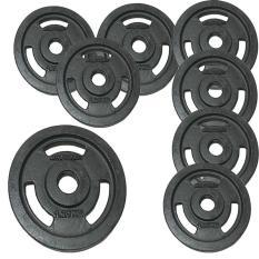 Bộ 8 miếng tạ gang 1,25kg (đen)