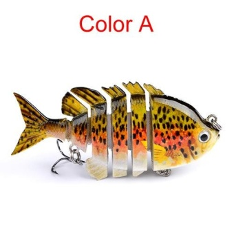 8cm 14g Multi-Jointed Fishing Lure bait plastic bionic bait (A) - intl