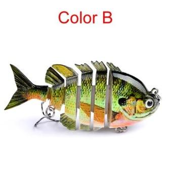 8cm 14g Multi-Jointed Fishing Lure bait plastic bionic bait (B) - intl