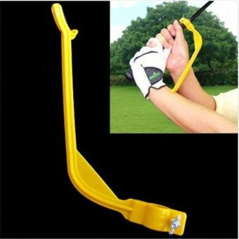 Ai Home Golf Beginner Gesture Alignment Tools Swing Trainer(Yellow) - intl