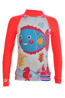 Áo bơi chống tia UV cho bé gái Gosweaty LITOP09 (Cam)