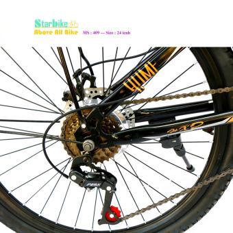 AZI bike  leo núi  26 icnh, nhúng trước, 2 thắng đĩa  < vè baga >