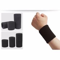 Băng bảo vệ cổ tay co dãn khi thể dục 15cm (Ghi)